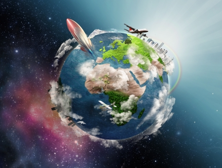 Illustration of life circle on the Earth Stock Illustration - 15873960