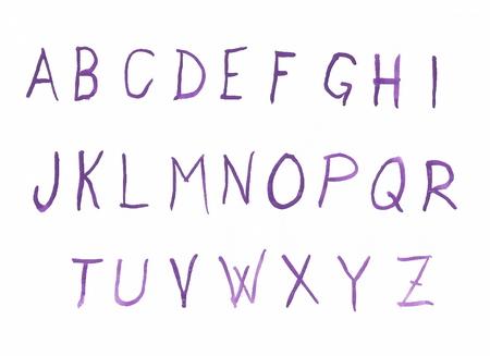 typesetter: Handwriten watercolor alphabet letters uppercase