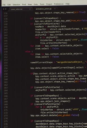 programming code: Software programming code tree on black screen background