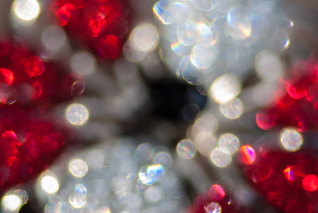 cristal: Beautiful cristal glass blured background lens flares Stock Photo