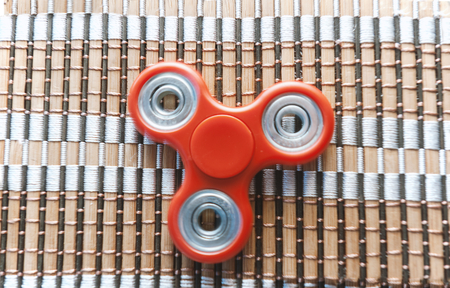 Top view of the popular spinner gadget in 2017 Stock Photo