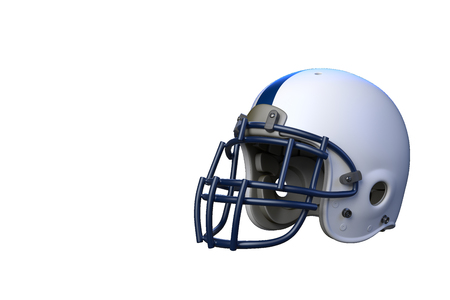 Superbowl american football match helmet in front of background