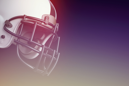 Superbowl american football match helmet in front of black background
