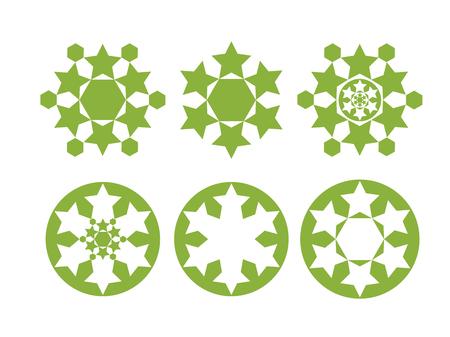 イスラム東洋の形。ラマダンイスラム教徒コレクション。ペルシャ語の聖職者のアートパターン。ベクターの図。スピリチュアル幾何学アラビア語記号