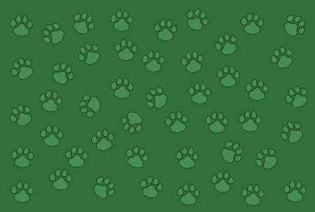 Designers background pattern made of dogs footprint