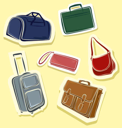 set of bags Vector