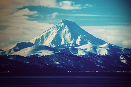 mt hood: Volcano