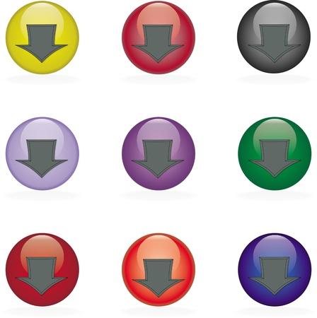 The button Stock Vector - 9576639