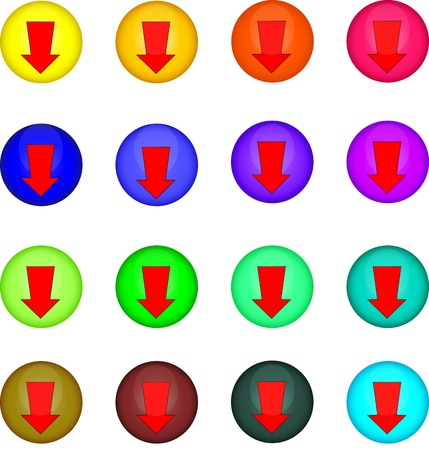 Buttons Stock Vector - 9618784