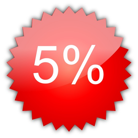 procent: The text sale 5%