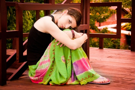 southern indian: Portrait of beautiful girl  Stock Photo