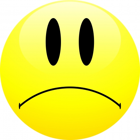 Sad emoticon Vector