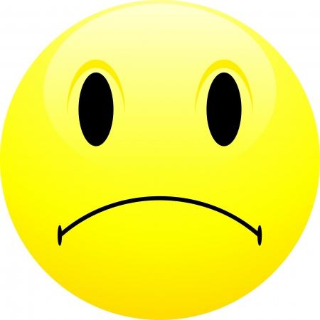 cara triste: Triste emoticono