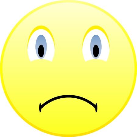 morose: Sad emoticon Illustration