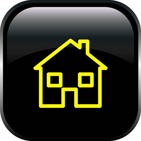 Le bouton maison Vecteurs