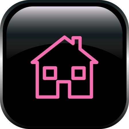 row of houses: El bot�n de casa Vectores