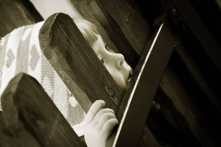 sad little girl: Sad little girl