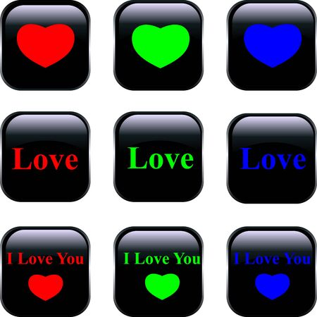 Set of vector buttons Stock Vector - 11937327