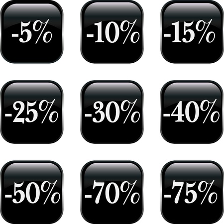 Set of  discount buttons Stock Vector - 12884891