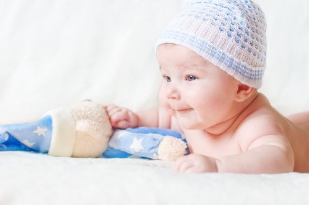 new born baby: portrait of adorable baby Stock Photo