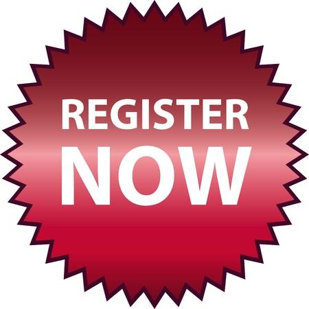 Vector register now Stock Vector - 13213199