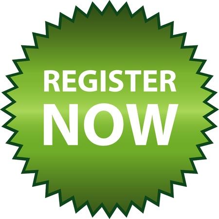 Vector register now Stock Vector - 13213197