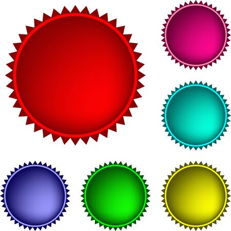 Collection of  glossy buttons in various colors Illustration