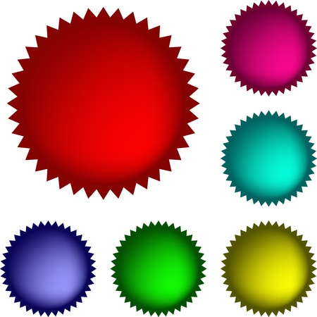 Collection of  glossy buttons in various colors 向量圖像