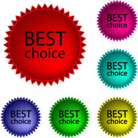Collection of  glossy buttons Best choice in various colors Vector