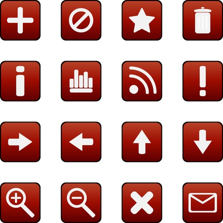 Collection of vector icons Stock Vector - 13543530