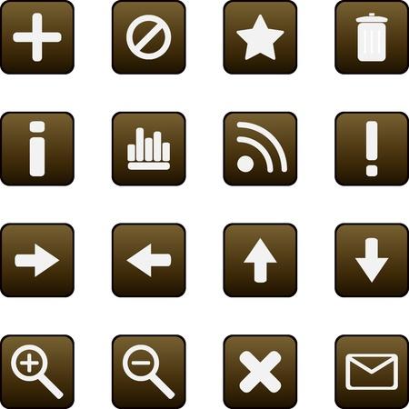 Universal vector icons Stock Vector - 13543542