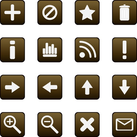 searches: Universal vector icons Illustration