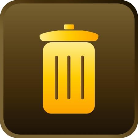 vector trash can icon Stock Vector - 13543546