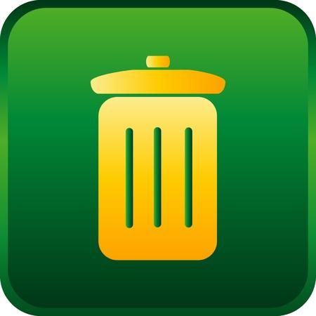 icona: vector trash can icon