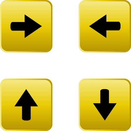 web button stickers arrow sign Vector