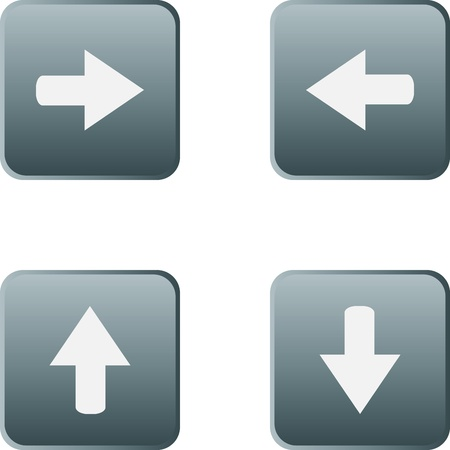web button stickers arrow sign Vector