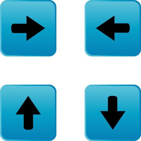 web button stickers arrow sign Stock Vector - 13543635