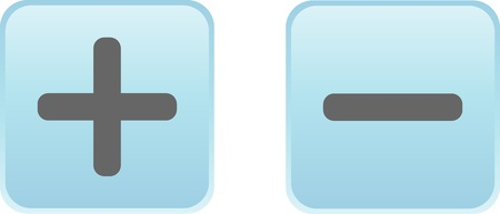icona: Glossy vector button - plus