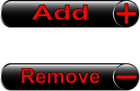 icons - to add and remove for the Internet and web design Vector