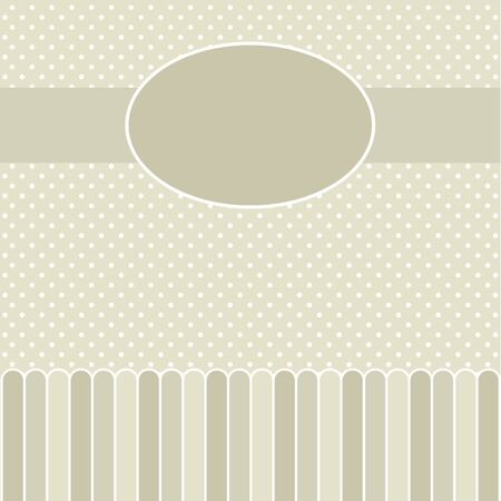 Template frame design for greeting card Stock Vector - 17952070
