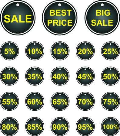 Set of vector labels. Sales. Stock Vector - 18117287