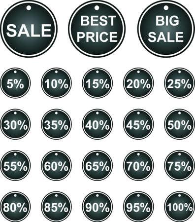 Set of vector labels. Sales. Stock Vector - 18117285