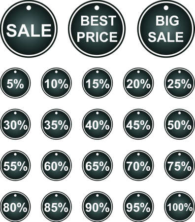 Set of vector labels. Sales. Stock Vector - 18117285