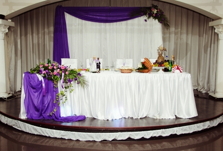 Beautiful wedding table Stock Photo