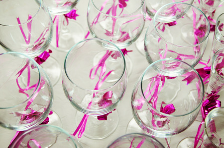 Glasses for champagne photo