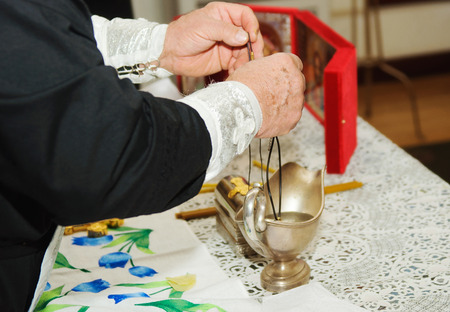 Priest during a ceremony photo