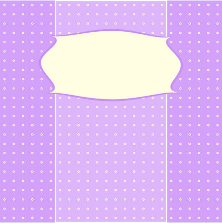Card for greeting or congratulation with the pink bow. Vector illustration eps 10.0 Vector