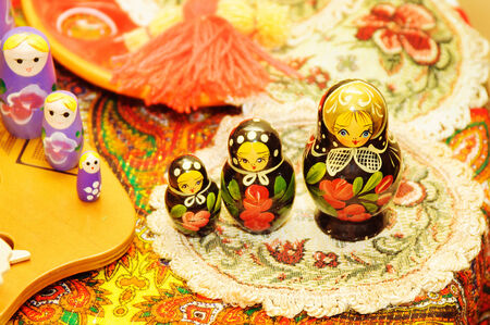 russian nested dolls: Russian Dolls Matrioshka. Russian nested doll Stock Photo