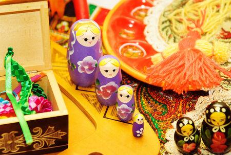 matrioshka: Russian Dolls Matrioshka. Russian nested doll Stock Photo