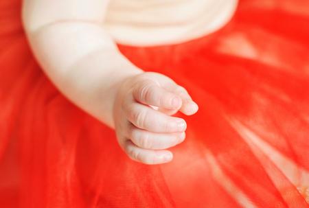 babys: Cute newborn babys hand Stock Photo